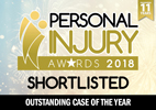 Personal Injury Awards 2018 Shortlisted Case of the year