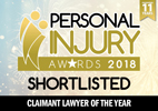 Personal Injury Awards 2018 Shortlisted Claimant of the year